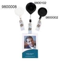 Rexel Retractable Card Holder With Strap Nylon Cord Black H/sell