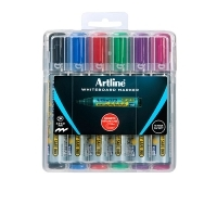 Artline 579 Whiteboard Marker Chisel Magnetic Case Asstd PK6