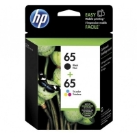 HP Ink Cartridge 65 3JB07AA Black & Colour Ink Pack