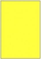 Custom Label 401 A4 BX100 1/sheet Fluro Yellow 210x295.2