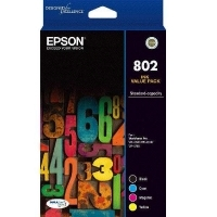 Epson 802 4 Colour (CMYK) Ink Cartridge Value Pack