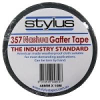 Stylus 357 Nashua Gaffer Tape 48mm x 10M Black BX24