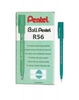 Pentel R56B Roller Ball Pens BX12 Red