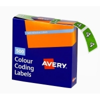 Avery Coding Label Numeric BX500 43244 (4) 25x38mm Lt Green