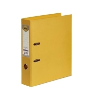 MARBIG PE LINEN LEVER Arch File A4 Yellow