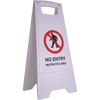 CLEANLINK SAFETY SIGN No Entry Restricted Area 32x31x65cm