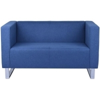 RAPIDLINE ENTERPRISE RECEPTION CHAIR 2 Seater Lounge Blue Fabric