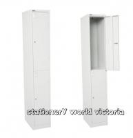 GO Steel Locker 2 Door (H)1830x(W)380x(D)455mm Siver Grey