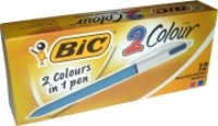 BIC 2 Colour Retractable Ballpoint Pen 803010