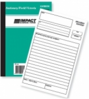 Delivery Docket Book Duplicate Upright Impact PC130