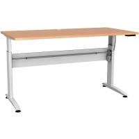 CONSET 501-15 ELECTRIC DESK White Frame Beech Top 1500x800mm