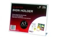 Deflecto Sign Holder Slanted A5 Landscape 47511