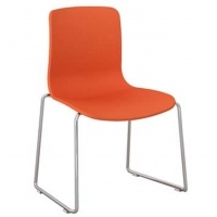 ACTI SC SLED BASE CHAIR Chrome Frame With Plastic Shell Orange
