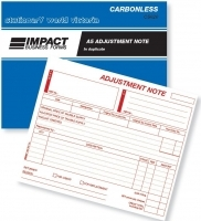 Adjustment Note Book Duplicate A5 Carbonless Impact CS620