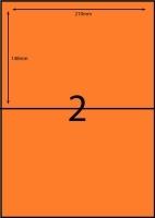 Rediform Colour Labels A4 Bx100 (2/sh) 210x148 Flouro Orange