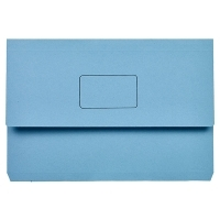 Marbig Slimpick Document Wallet Manilla Foolscap 4004001 BLUE