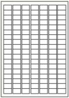 Custom Label 460 A4 BX100 126/sheet White 25x15mm