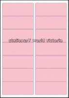 Custom Label 421 A4 BX100 14/sh Pink Tint 97x40mm