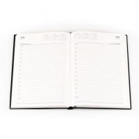 2022 Belmont Diary 187 A5 Day to a Page PVC Black