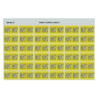 Avery Coding Label Month PK180 43405 (MAY) 25x38mm Yellow