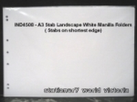 Divider A3 Manilla White 5Tab Landscape (Oblong)