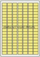 Custom Label 460 A4 BX100 126/sheet Yellow Tint 25x15mm