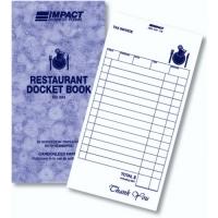 Impact Restaurant Docket Book Impact RD304 100x195 Triplicate