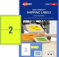 Avery Laser Label L7168FY PK10 2/Sht Fluoro Yellow