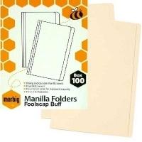 Marbig Manilla Folders Buff Fcap BX100