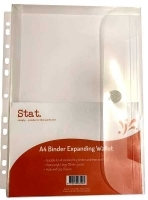 STAT Binder Wallet A4 Expanding Clear Pack of 10