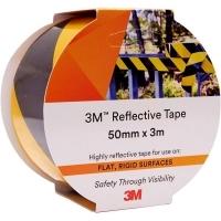 3M 7930 REFLECTIVE TAPE 50mm x 3M Yellow/Black