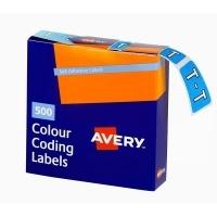 Avery Coding Label Alpha BX500 43220 (T) 25x38mm Blue