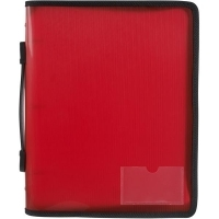Marbig Zipper Binder A4 3R 25mm Red