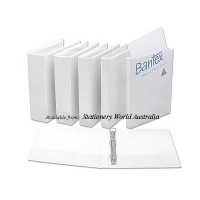 Bantex Insert Binder A4 3D 38mm (300page) White BX15 NO LABEL