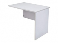 Rapid Vibe Open Desk Return 900x600mm Light Grey
