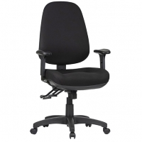 Style TR600C-MB Task Office Chair High Back +Arms - Black