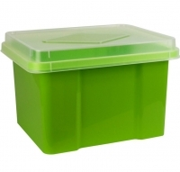 Italplast Storage Box 32 litre 307L Lime+ClearLid
