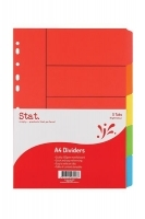 Divider A4 Manilla Bright Color 5Tab STAT 48026