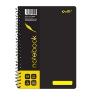 Quill Notebook 70gsm PP 10570A A5 200 Page PK5 Black