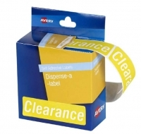 Avery Dispenser Label 19x64mm PK125 Printed Clearance
