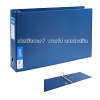 Bantex Ring Binder A3 Oblong 4D 65mm (500p) Blue BX4