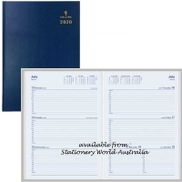 2021 Collins Sterling Diary A5 Week Open Navy 384.P59
