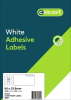 CELCAST Labels 48024 BX100 24/sheet 64x38mm