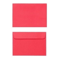 Quill Envelope 80gsm C6 114x162 Pack 25 - Red