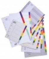 Divider A4 PVC Grey 10Tab Color Bantex 6010