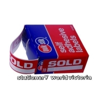 Quik Stik Dispenser Label SOLD TO MR2976 29x76mm Remove BX160