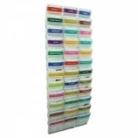 Esselte Cliplock Wall System Brochure Holder 36 x A5 Pockets