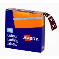 Avery Coding Label Alpha BX500 43211 (K) 25x38mm Brown