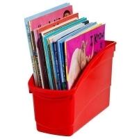 Elizabeth Richards Plastic Book Tub Red