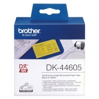 Brother DK44605 Yellow Removable Paper Roll 62mm x 30.48Mt
